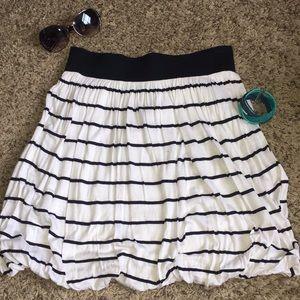H&M Nautical Striped Bubble Skirt EUC